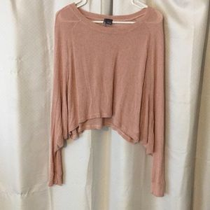 Soft Cropped Long Sleeve Sweater